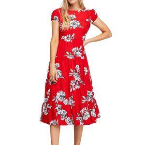 NWT Free People Floral Tiered Rita Midi Dress